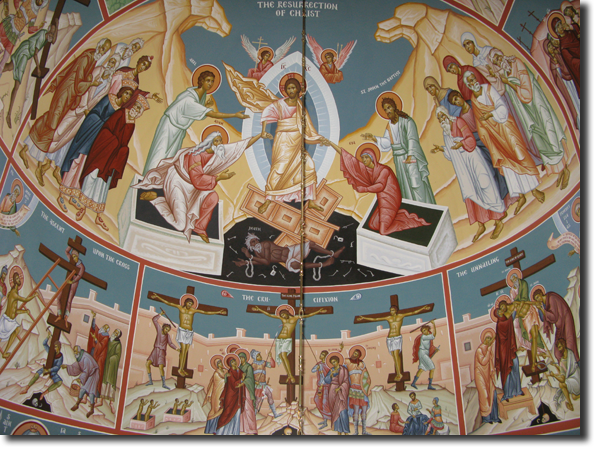 The Resurrection, and other icons of our Saviour's Passion: The Ascent   Upon the Cross, The Crucifixion, and The Unnailing.